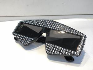 Edição Limitada 0289 Óculos De Sol Espumante Designer de Diamante Quadro Bling Bling Proteção UV Óculos de Sol de Verão de Alta Qualidade Da Moda Para As Mulheres