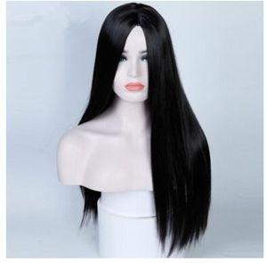 2018 Cross-Border-Lattich-Perücke Dame schwarzer langer glatter Haar sub / Kill Kill / heißen Verkauf Europas und Amerikas Perücke Hersteller Verkauf