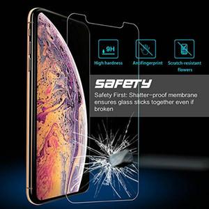 Temperli cam iPhone 12 Pro Max Mini 11 Xs Max XR XS X 8 7 6 6s Artı 5 5S SE Ekran Koruyucu Film 2.5D 9H Karşıtı Paramparça Kağıt Ambalaj