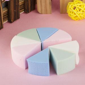 8pcs треугольник образный красота конфеты цвет мягкая магия чистка лица косметическая Puff очищение мыть лицо макияж Фонд губки горячие