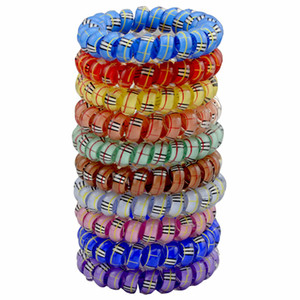 Fashion Candy Color Telephone Line Elastic Hair Bands Hair Spring Rubber Hair-rope ties hair ring wear access Women Pony Tails Holder