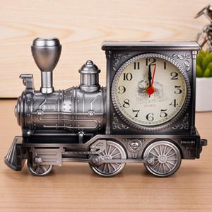 Weinlese-Retro- Zug-Schreibtisch-Wecker-Hauptdekor 3 färbt kreatives Art- und Weisequarz-Taktgeber-bestes Förderungs-Geschenk mit Kästen