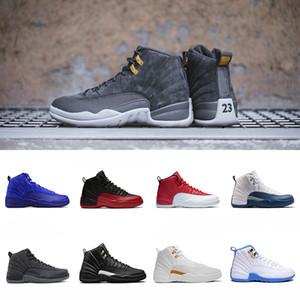 2018 제품 신발 12 12s Basketabll 신발 독감 게임 흰 양털 로얄 블루 프렌치 블루 체육관 레드 스니커즈 US 7-13