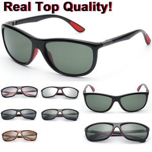 8351 f g15 مستطيل العلامة التجارية أعلى جودة النظارات اللوح الحقيقي خلات المواد إطار العدسات نظارات الشمس الرجال أسطول شخصية uv400 نظارات