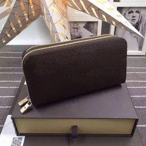 2019 الجملة الكلاسيكية المعيارية محفظة الأعمال الرجال النساء طويل محفظة نوعية جيدة حقيبة المال مزدوجة سستة الحقيبة عملة جيب ملاحظة مقصورة