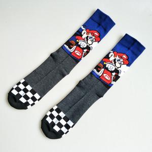 لعبة سوبر ماريو جوارب شارع Cosplay Costton Women Men Mario Bros Socks Party Party Novel Funny