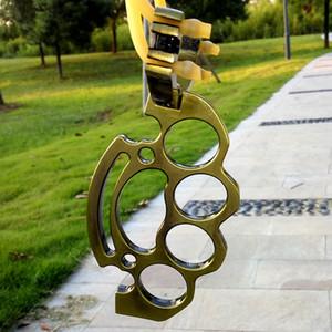 Складной металлический бокс тяги рогатки латуни кулака охота катапульты открытый игры инструменты с высоким качеством резины