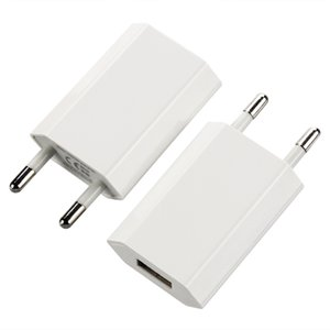 Good quality 4th fourth generation high foot flat White full 1A OEM EU US AC Plug USB Power Home Wall Charger Adapter 100pcs lot