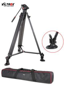 1.8 M Viltrox VX-18 M Pro Heay Dever de Alumínio Tripé de Vídeo + Fluid Pan Head + Bolsa de Transporte para a Câmera DV DSLR Muito Estável