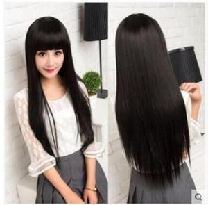 Shop Mode Perücken 2018 Slant lange Gerade Fluffy Haar Langes Haar-Perücken schneller Verkauf Perücke heiße verkaufende Fabrik-Direktverkauf