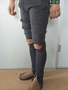 Neue Ankunft Cosmama Brand Mens Printed Designer koreanische Mode Slim Skinny Biker Casual Zipper Fly Slim Jeans
