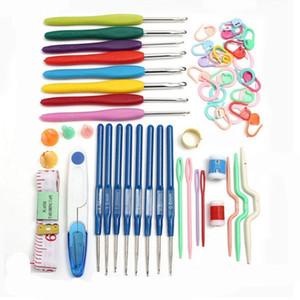 Крючки набор ручной вязальные спицы с ручкой для рукоделия DIY швейные гладкая пряжа стежки ткать ремесло