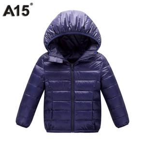 A15 Winter Jacket Boy Kid Light Duck Down Coat Children Hooded Warm Toddler Girl Jacket 2018 Spring Outwear Age 10 12 14 16 Year