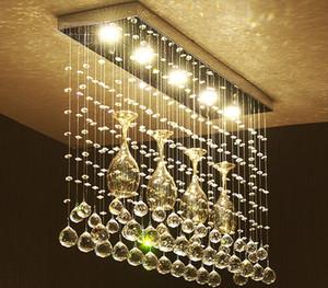 Kristal kombinasyonu led Tavan Işık Ligi restoran LED kristal restoran yemek masası Kristal ışık tavan lambaları LLFA
