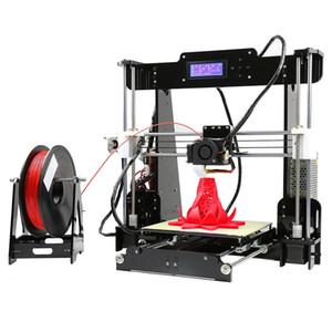 Anet A8 Impresora 3D de alta precisión Imprimante 3D Kit de bricolaje 0.4mm Boquilla Tamaño de impresión grande 3D Escritorio Acrílico Pantalla LCD Impresora VB