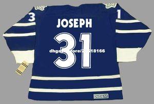 ricamo personalizzato Mens CURTIS JOSEPH Toronto Maple Leafs 1998 CCM Vintage ricamo Cheap Retro Hockey Jersey