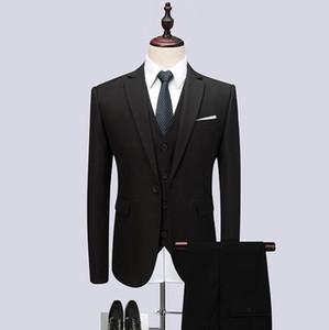2018 новое прибытие мужчины костюмы мода бальные платья мужская Slim Fit бизнес черный классика свадебный костюм большой полный размер мужчины смокинги жених свадьба