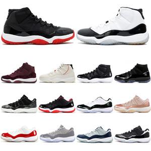 Nike Air Jordan Retro 11 11s Offre spéciale 11 11s Soirée de promotion Université bleu métallisé Or Navy Gum élevé Varsity Red concord 72-10 chaussures de basket-ball de sport Sneaker