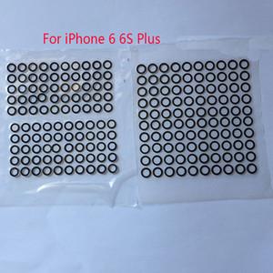 Coperchio di vetro dell'anteriore della lente della macchina fotografica della parte posteriore posteriore nera all'ingrosso all'ingrosso per il iPhone 6 6 più 6S 8 7 7 più con gli autoadesivi della colla dell'adesivo Trasporto libero