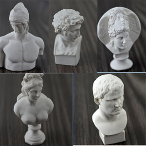 Single Mini Plaster Head Portrait American Style Sculpture Resin Plaster Character Sketch Draw Model Easy To Use 3 2zp dd