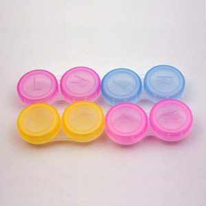 Contact Lens Box Holder Plastic Portable Small Lovely Candy Color Eyewear Bag Container Contact Lenses Soak Storage Case