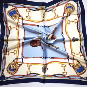 Simulación de seda pequeño diseñador cuadrado bufanda simple moda bufanda de seda estudiante tendencia bufandas bufanda retro salvaje