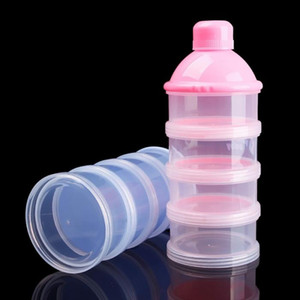 Portable Baby Infant Feeding Milk Powder & Food Bottle Container 3 Cells Grid Practical Box