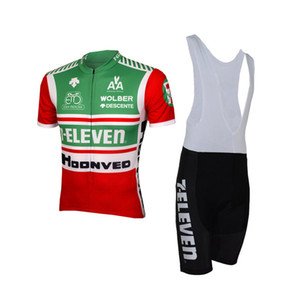 7 ELEVEN Team Retro CLASSICAL SHORT SLEEVE CYCLING JERSEY SUMMER CYCLING WEAR ROPA CICLISMO+ BIB SHORTS 3D GEL PAD SET SIZE:XS-4XL