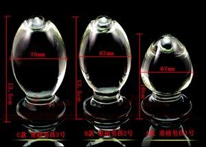 Forma Número tienen un cristal de hielo Ganso El patio ano anal Perno A1029 órgano Sabor grande 67mm huevo fuego Estimular placer Masturbación Klbme