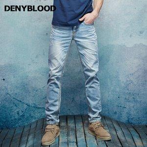 Kalın Dikiş Mens Sıkıntılı Kot Yırtık 3d Buruşuk Bıyık Erkek Moda Denim Kargo Pantolon Bağbozumu Yıkanmış Rahat Toptan Pantolon
