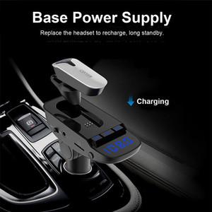ER9 Auto-MP3-Player Bluetooth Headset 2 in 1 FM Transmitter Bluetooth Freisprecheinrichtung Line-Audio-Eingang für alle Smartphones