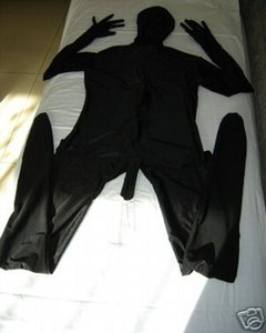 Sexy Black Full Body Lycra Spandex Zentai Suit Penis Catsuit Adult Size Cos Costume