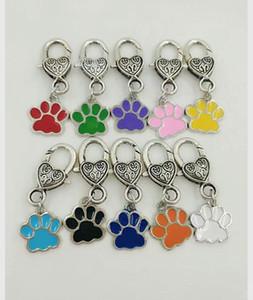 Drip Enamel Dog Cat Paw Prints Keychain For Keys Llavero Del Coche Del Bolso Souvenir Fashion New Esmalte de La Joyería Para Las MujeresMen-50