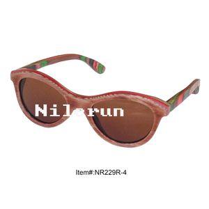 colorful oval skateboard wood sunglasses