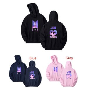 "BTS Bangtan Boys Fan Suit Size 2XS-4XL Loose Casual Top with Letter ""JIN"" Multi-colored Large Size Hoodie"