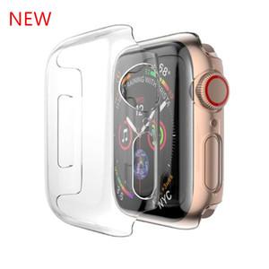 Pour Apple Watch Series 4, étui rigide, coque transparente, coque de protection complète pour iWatch 1/2/3