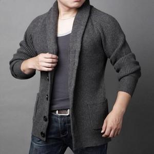 Vxo erkekler sonbahar artı boyutu hırka erkekler rahat kazak kalın sıcak sonbahar kış erkek tek göğüslü hırka masculino