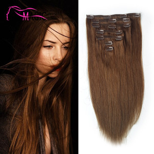 Low Price Bestseller Brazilian Clip In Hair Extensions Clip Human Hair Extensions 100g 7pcs 10 Colors Optional Ali Magic Factory Outlet