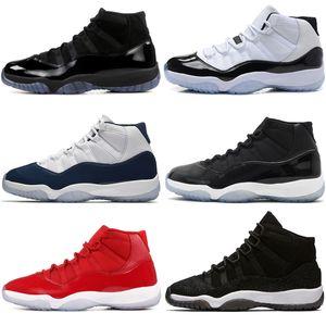 2018 Ucuz yeni 11 Spor Salonu Kırmızı Chicago UNC Mavi Basketbol Ayakkabıları Erkekler Için Gibi Win 82 2018 Yayın Sınırlı Sıcak Satış ABD 5.5-13 Eur 36-47