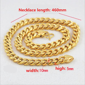 latest Pure copper fashion Domineering Men necklace Gold Plated Jewelry Perfect Gift Accessories Europe and United States Hot Gold Necklaces