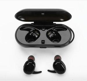 Spor Kulaklık Telefon Mini Twins Kablosuz Bluetooth 4.1 Stereo Kulaklık Su Geçirmez Spor Kulaklık Ile Kulak Kulaklık Kulakiçi TWS Şarj