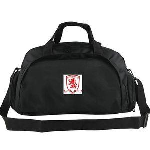 Bolso de lona Middlesbrough Bolso de club gratis Boro Mochila de tren de fútbol Equipaje de ejercicio Peto de hombro deportivo de deporte Paquete de cabestrillo para exterior