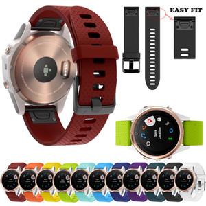 20mm Yedek Silikon Hızlı Bırakma Wirstband için Garmin 5s Artı Saat Kayışı Correas de reloj