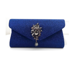 Woman Crystal Evening Clutch Bag Flap Diamonds Applicant Chain Shoulder Handbags Bag Female Beaded Party Wedding Purse