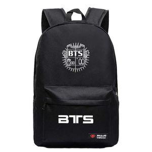 Neue Ankunft Bangtan Boys BTS Rap Monste Tasche Rucksack Männer Frauen Mode Rucksäcke Jungen Mädchen Student Schule Reisetaschen