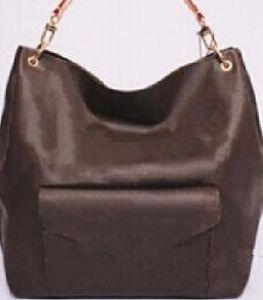 Bolso bandolera con flor marrón y correa clásica de cuero real mujer pochette Metis M40781 bolsos de lona metis new lady diseñador bolsos