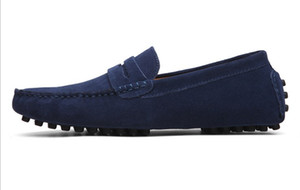 Para hombre zapatos de cuero genuinos zapatos del ante oficiales de tamaño mocasín zapatos grandes para hombre paseo recorrido zapato casual comodidad suave aliento Hombres zy801