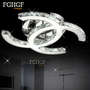 Moderna lámpara de techo con luces de araña de techo de cristal LED K9 Lámparas de techo de cristal lustres de cristal para la sala de estar Dormitorio Cocina