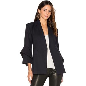Frauen Blazer Jacke 2017 Sommer Büro Anzüge Hohe Qualität Cape Blazer frauen Basic Mäntel Formale Jacken Frau Arbeits Anzüge