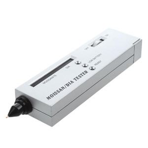 LED Moissanite Jewelry Diamond Gemstone Tester Authentication Selector Tool Silver